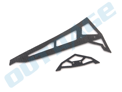 R550003-1 OUTRAGE Carbon Fiber Fin Set for Fusion 50