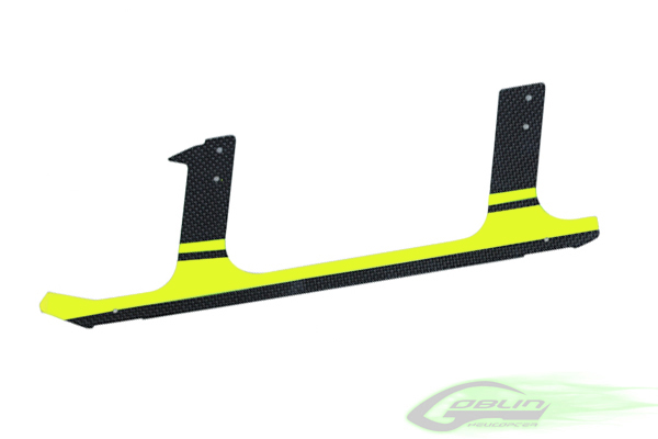 H0106-S Low Profile Carbon Fiber landing gear Yellow (1pc)