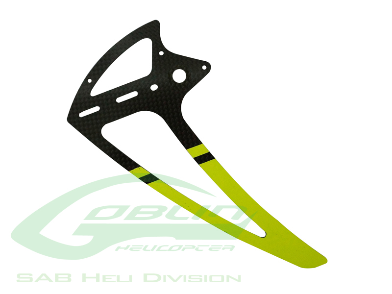 H0242-S Carbon Fiber Tail Fin Yellow