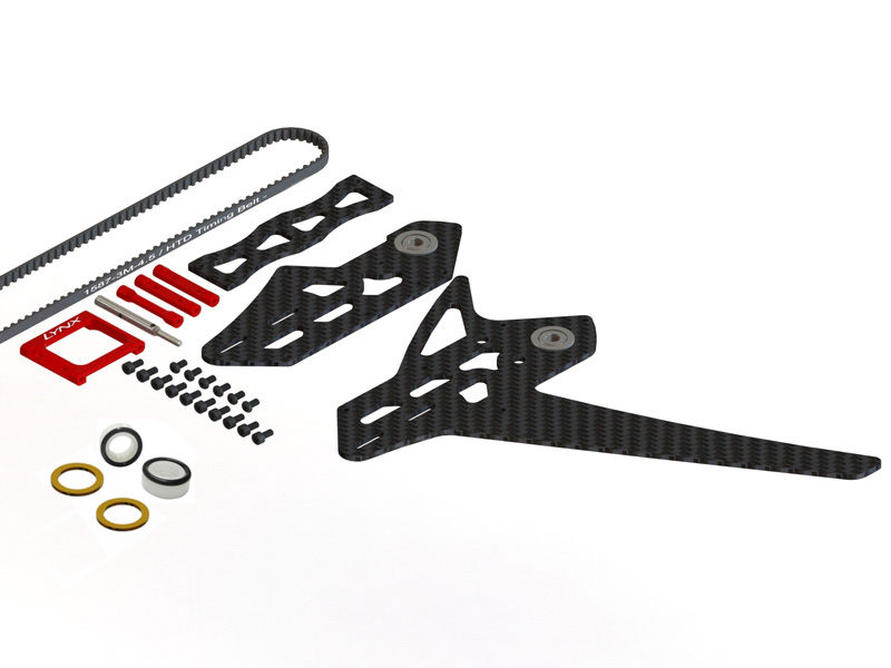 LX0885 - GOBLIN 500 - 550 Stretch Tail Kit - Red