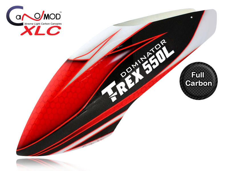 Red Eyes - T-REX 550L Dominator FULL CARBON Canopy