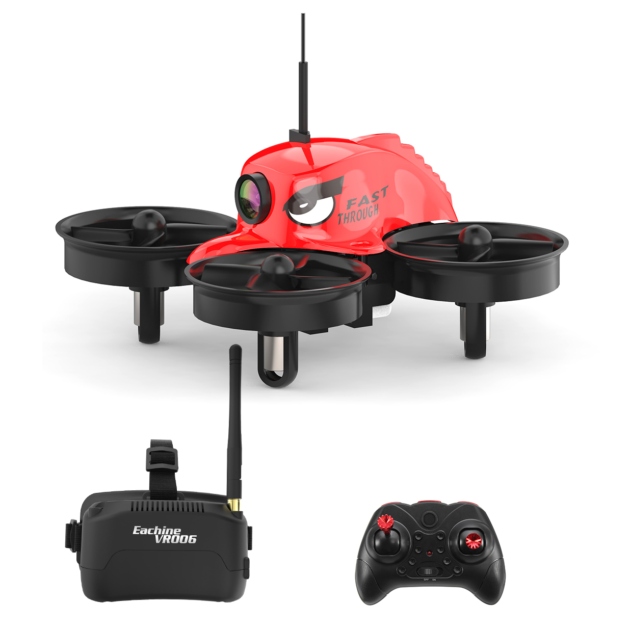 Eachine E013 Micro FPV Racing Quadcopter(モード2) ゴーグル付フルセット