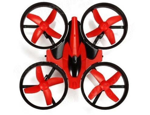 Eachine E010 Mini 2.4G 4CH 6 Axis Headless Mode Quad Red(モード1)