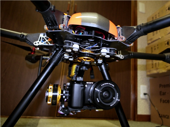 FH800 X-CAM Kongcopter Folding Hexacopter FPV Complete Set