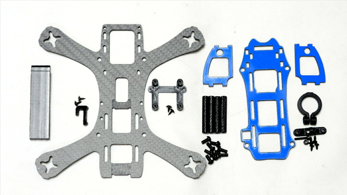 MAK GRAVY 150 V2 Racing Quadcopter Frame Kit(Dry Carbon)
