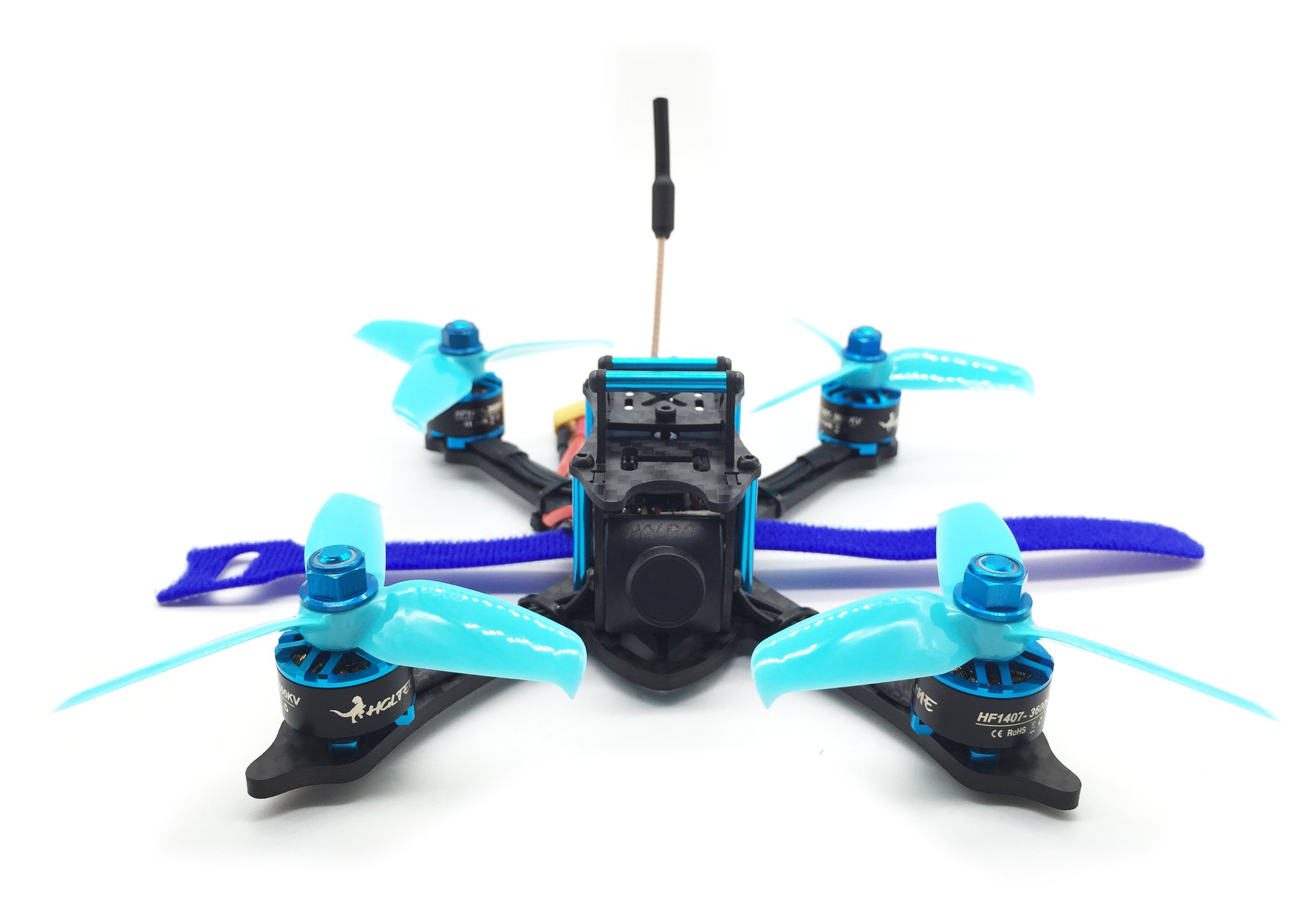 HGLRC XJB F428 145mm PNP FPV Racing Drone Blue