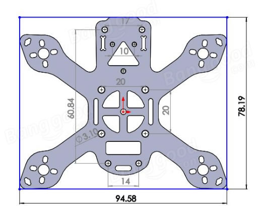LTN 90L Micro Brushless Racing Quadcopter Frame Kit
