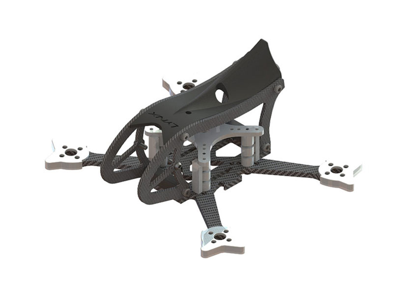 LX2598-3 - GosH 2 110mm FPV Racer Frame, Black Color