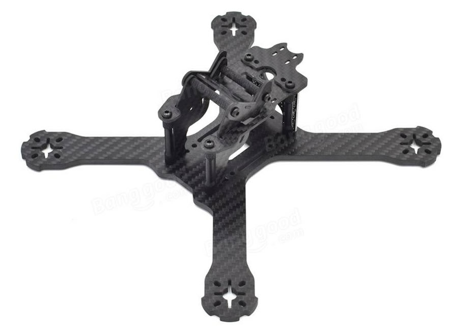 Realacc 210 Carbon 4mm FPV Racing Frame w/ LED 5V & 12V PDB
