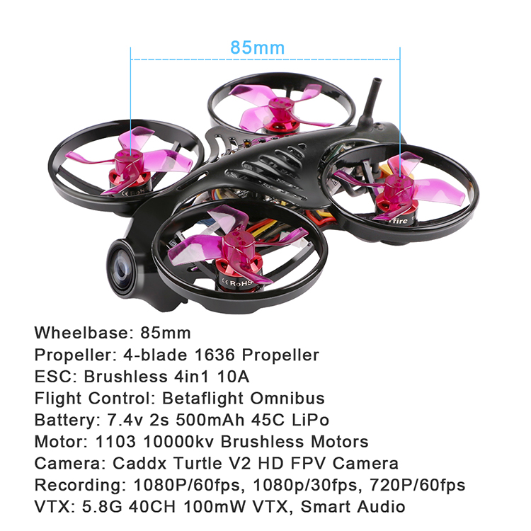 Armor85 HD-DVR V2 Brushless Whoop 85mm FPV Racing Drone(S-FHSS)完