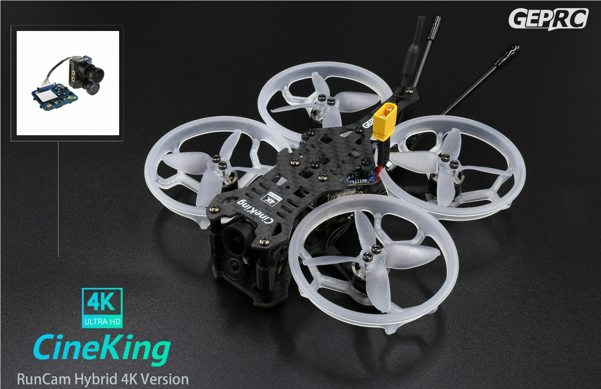 GEP-CineKing 4K Runcam Hybrid F4 PNP(without receiver) 完成機