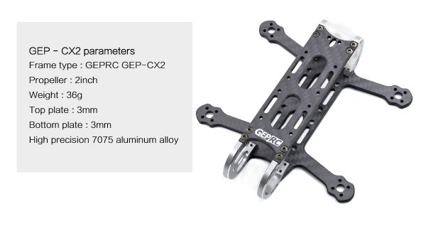 GEP- CX2 115mm 2 Inch FPV Drone Frame Kit