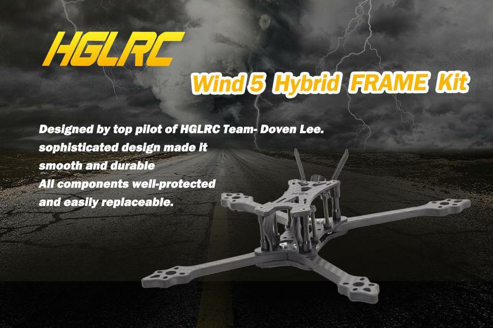 HGLRC Wind 5 Hybrid Frame Kit