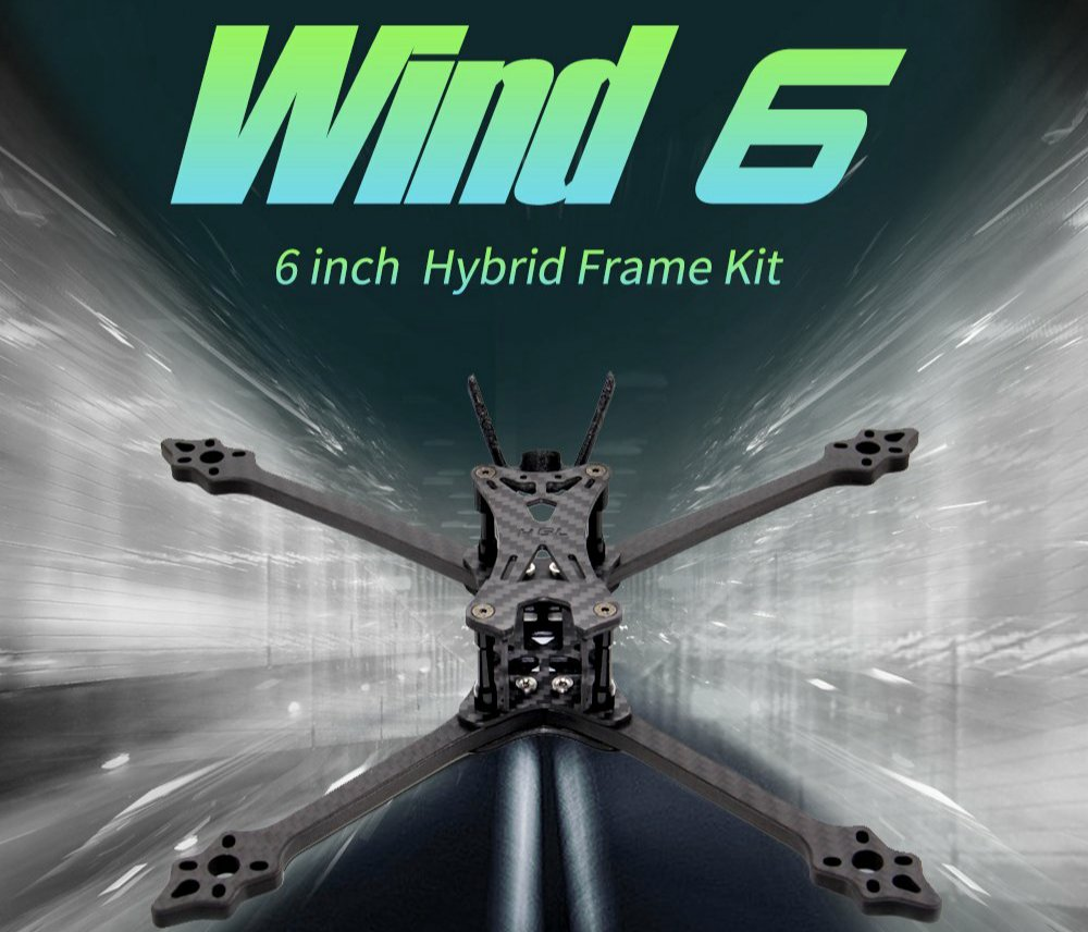 HGLRC Wind 6 Hybrid Frame Kit