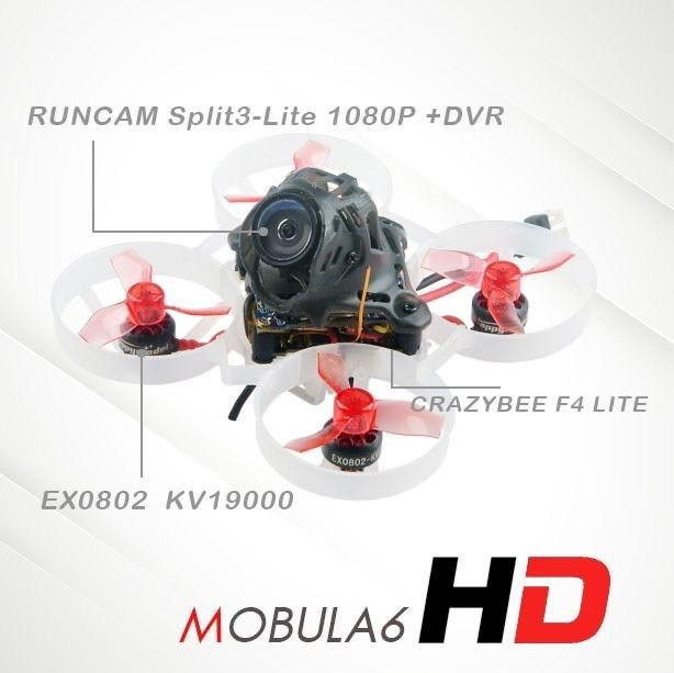 Happymodel Mobula6 HD 65mm Micro HD-DVR 1S 19000kv Brushless Who