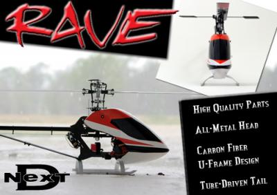Curtis YoungBlood- Rave 450 Flybarless Helicopter Kit(Airframe)