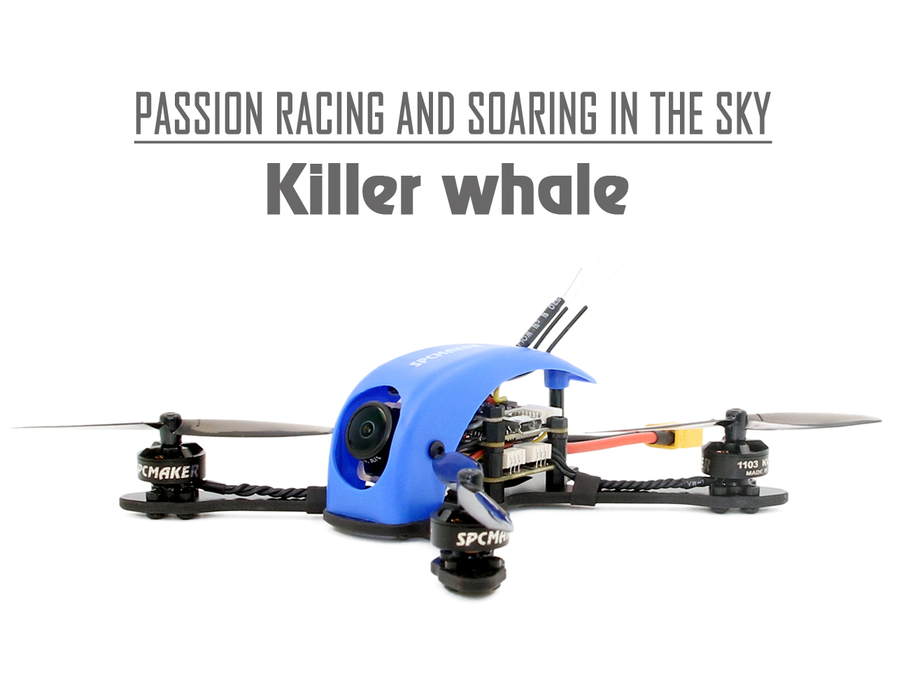 SPC-Killer Whale Toothpick 115mm FPV Racing Drone - S-FHSS受信機付