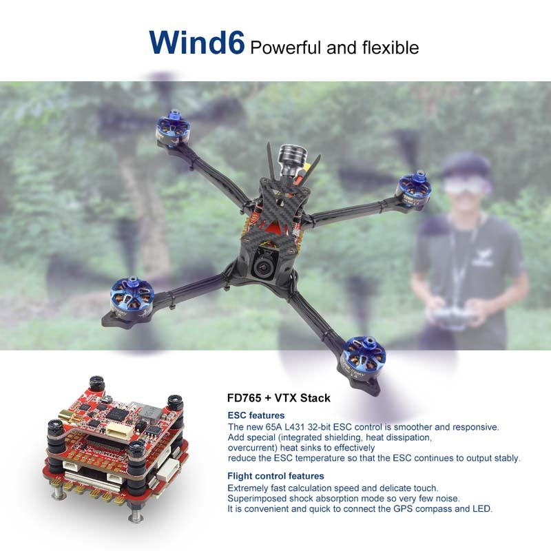 HGLRC Wind 6 Hybrid F7 65A 6S Racing Drone PNP