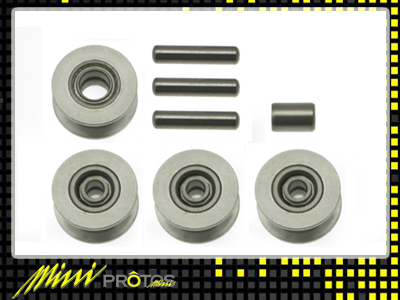 MSH41112 Alu CNC pulley set Mini