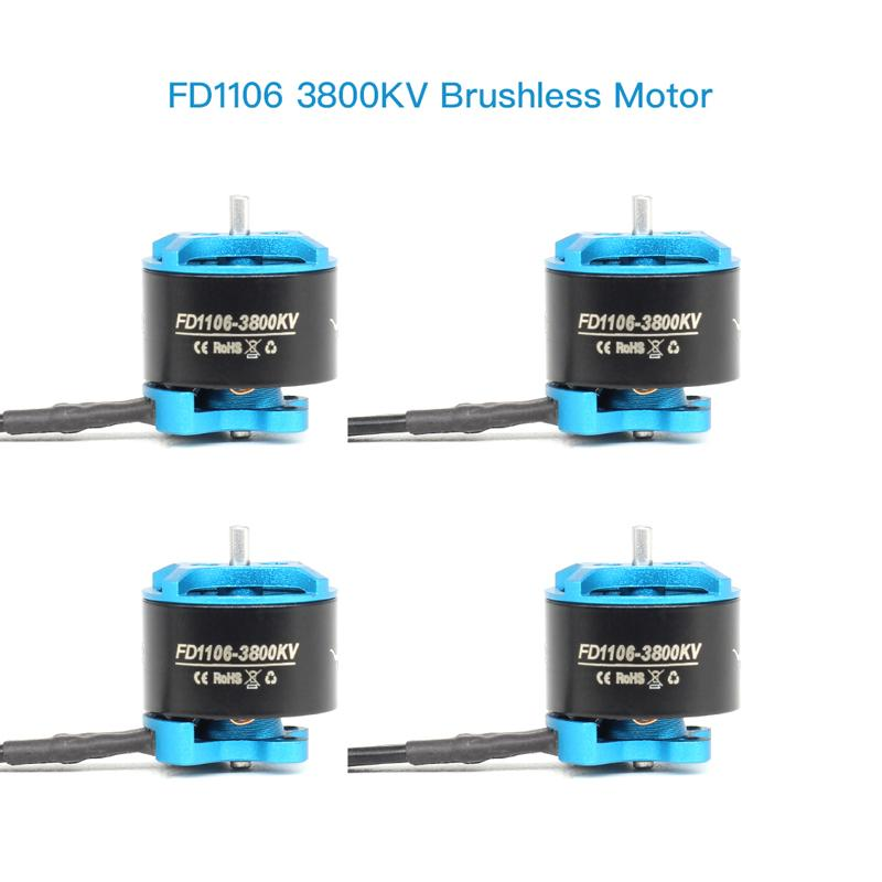 HGLRC FD1106 3800KV Brushless Motor 4SET (Blue)