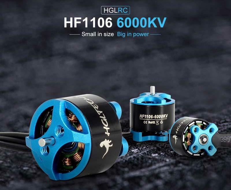 HGLRC FLAME HF1106 6000KV 2-3S Brushless Motor(Blue)