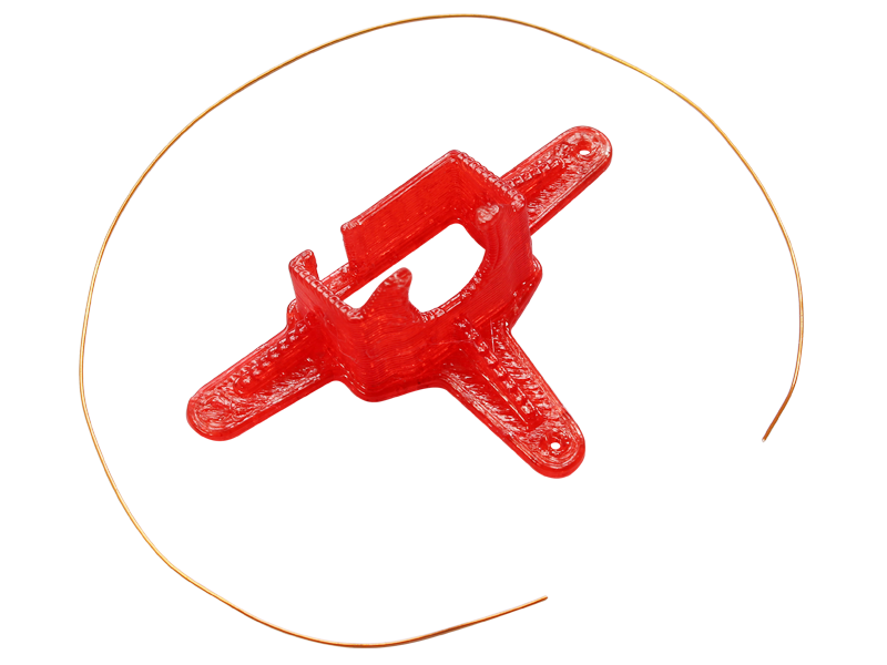 RKH TPU Micro FPV Camera Mount-10 Degrees (Red)