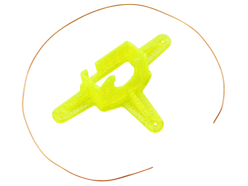 RKH TPU Micro FPV Camera Mount-10 Degrees (Yellow)