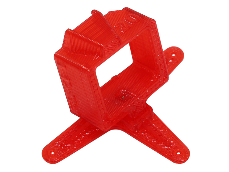 RKH TPU Camera Mount-20 Degrees (Red) - Inductrix FPV Pro
