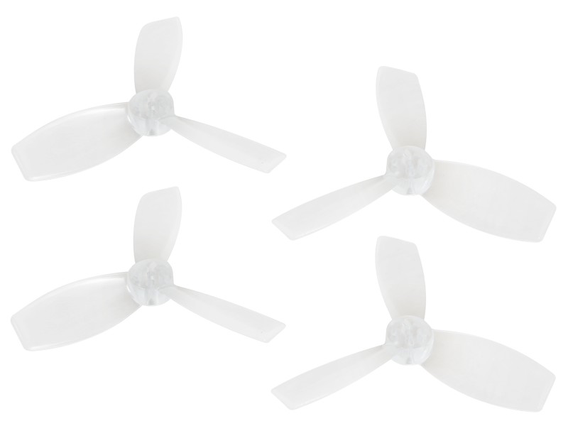 RKH 2222 3 Blade Transparent Propeller (2CW+2CCW; 1.5mm Shaft)Cl