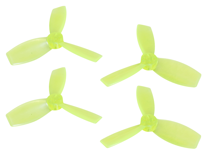 RKH 2222 3 Blade Transparent Propeller (2CW+2CCW; 1.5mm Shaft)Ye