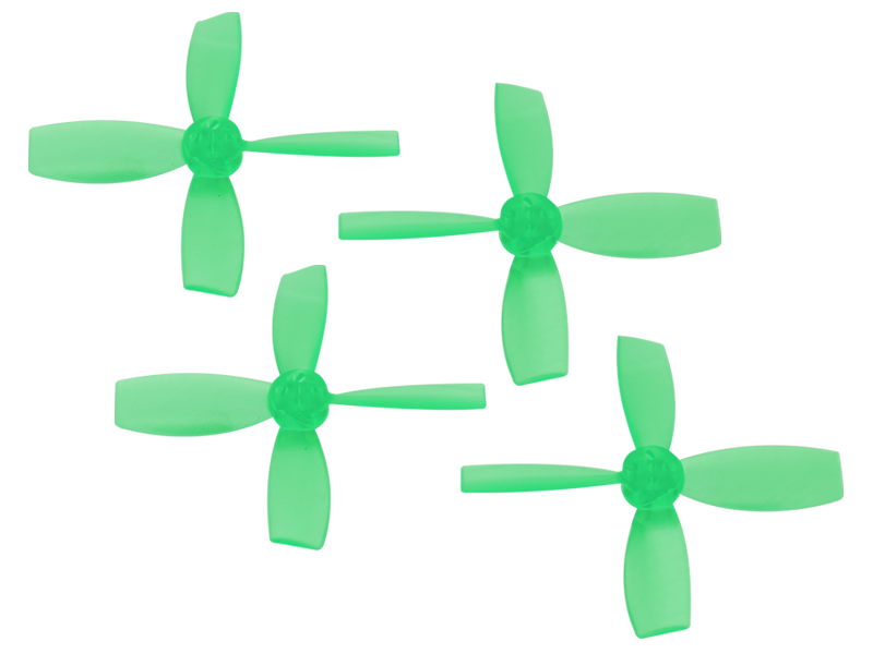 RKH 2222 4 Blade Transparent Propeller (2CW+2CCW; 1.5mm Shaft)Gr