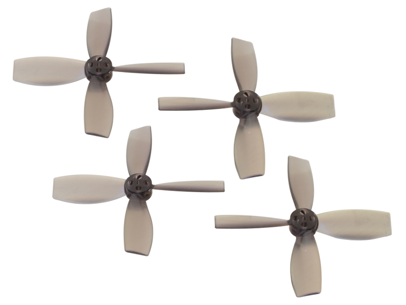 RKH 2222 4 Blade Transparent Propeller (2CW+2CCW; 1.5mm Shaft)Bl