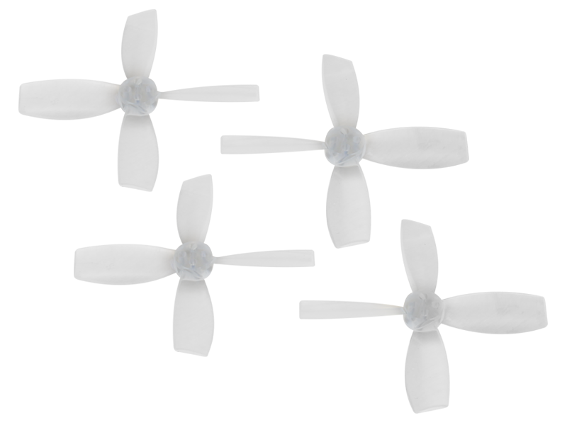 RKH 2222 4 Blade Transparent Propeller (2CW+2CCW; 1.5mm Shaft)Cl