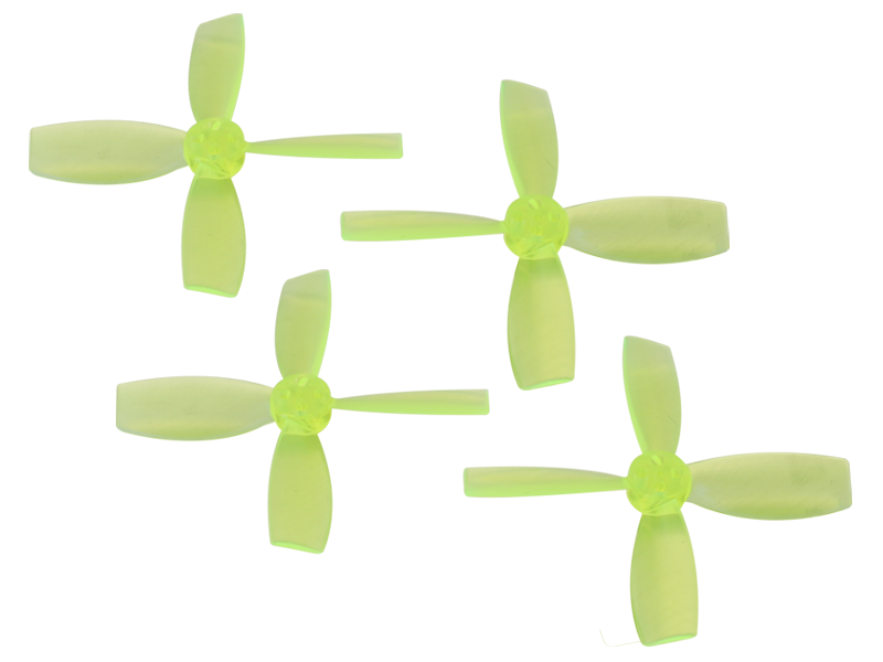 RKH 2222 4 Blade Transparent Propeller (2CW+2CCW; 1.5mm Shaft)Ye