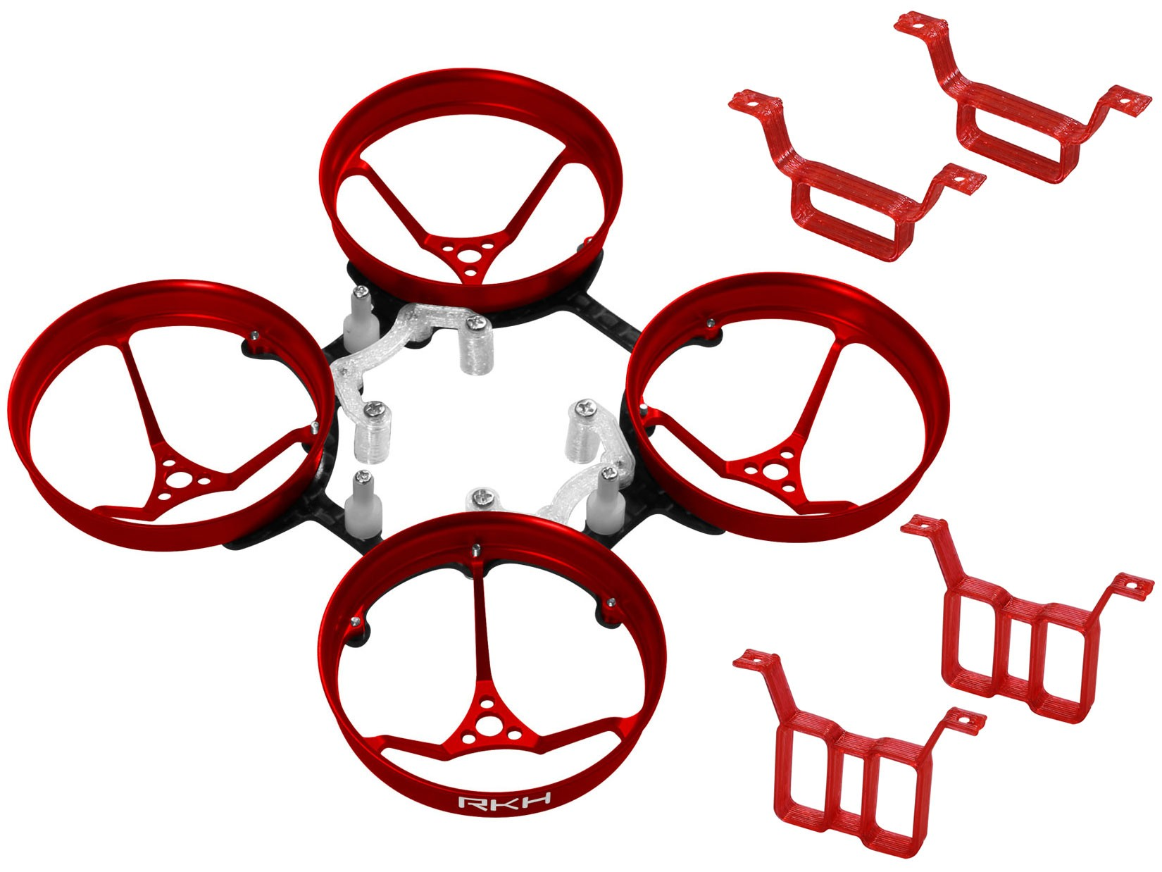 RKH CNC AL Carbon 66mm Brushless Whoop Kit-Red(for 0703/0705)