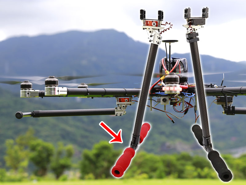 STO Retractable Landing Gear for Large Multi-Copter