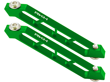 RKH CNC AL Rear Frame Support Set (Green) - Sky-Hero Anakin/Clu