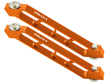 RKH CNC AL Rear Frame Support Set (Orange) - Sky-Hero Anakin/Clu