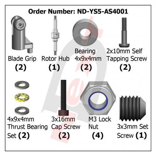 ND-YS5-AS4001 Rotor Hub Set