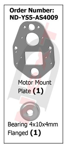 ND-YS5-AS4009 Motor Mount Plate (Carbon)