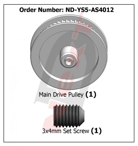ND-YS5-AS4012 Main Drive Pulley