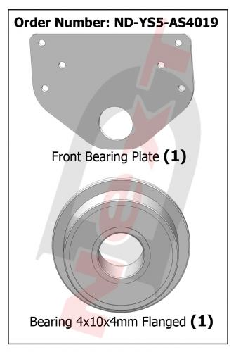 ND-YS5-AS4019 Front Bearing Plate