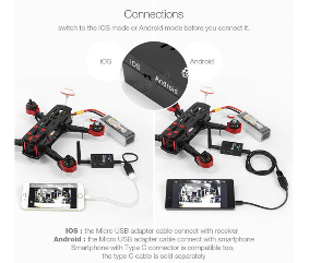 5.8G Eachine R051 FPV AV Receiver Built in Bat For iPhone Androi