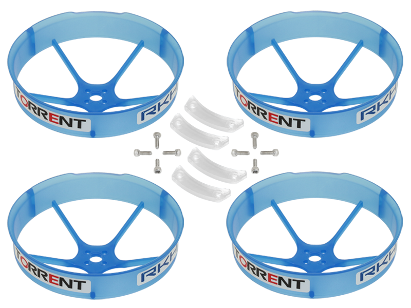 RKH 59mm Transparent Propeller Duct (Blue) - Blade Torrent 110