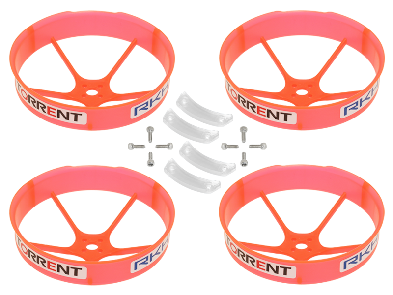 RKH 59mm Transparent Propeller Duct (Orange) - Blade Torrent 110