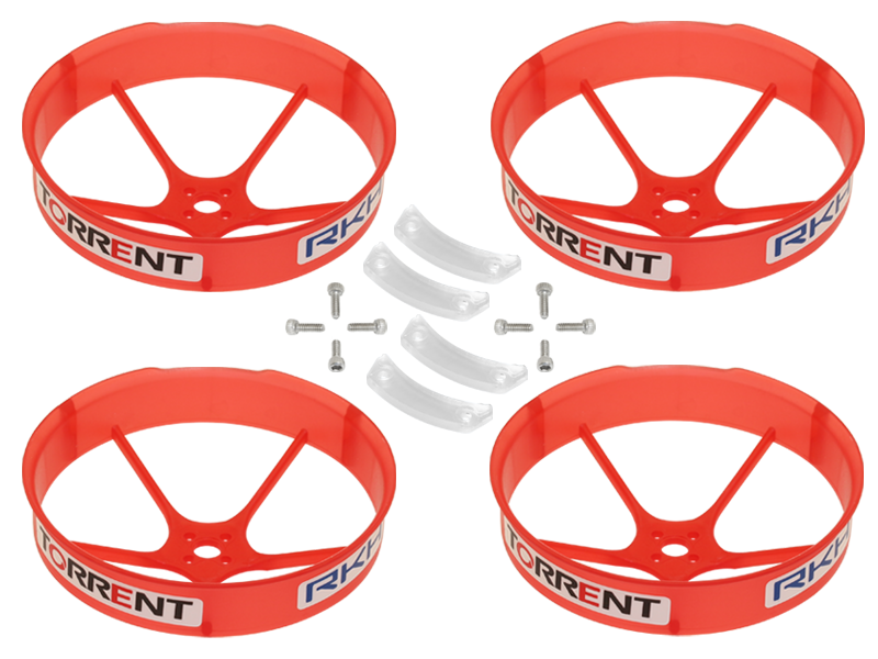RKH 59mm Transparent Propeller Duct (Red) - Blade Torrent 110