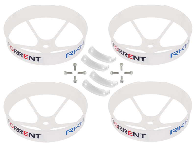 RKH 59mm Transparent Propeller Duct (White) - Blade Torrent 110