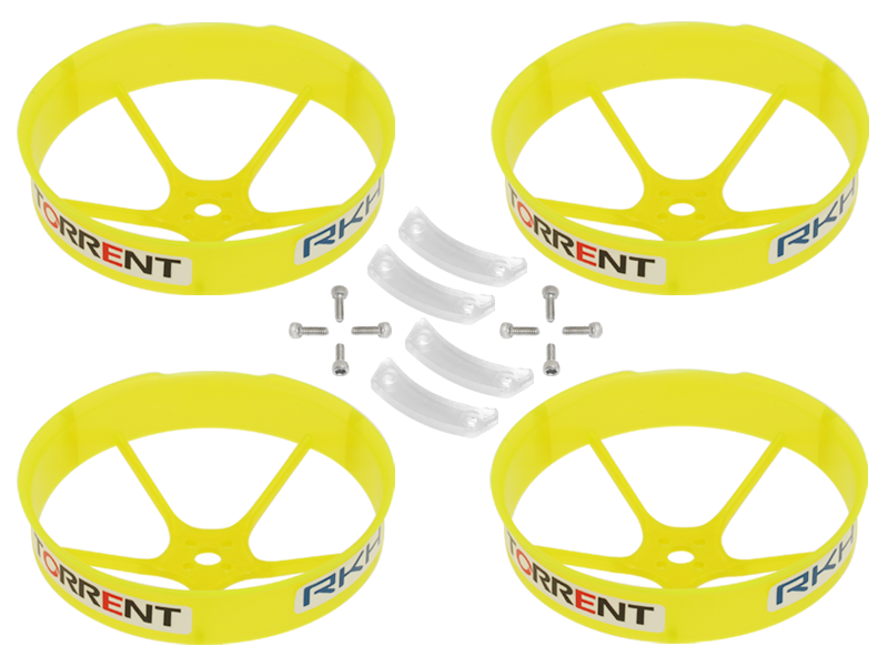 RKH 59mm Transparent Propeller Duct (Yellow) - Blade Torrent 110
