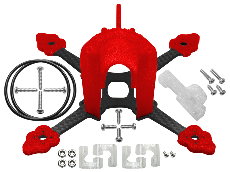 RKH CNC Advanced Upgrade Kit (Red) - Blade Torrent 110 FPV
