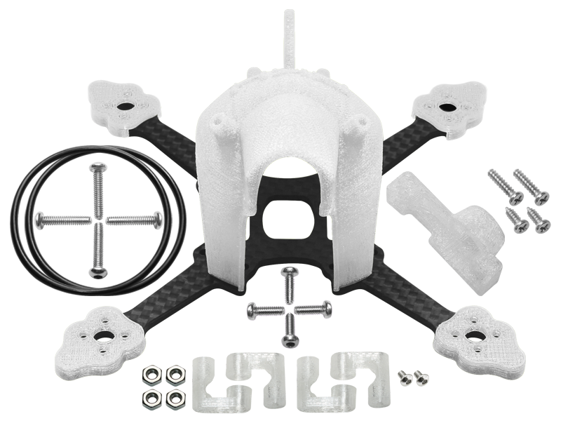 RKH CNC Advanced Upgrade Kit (White) - Blade Torrent 110 FPV